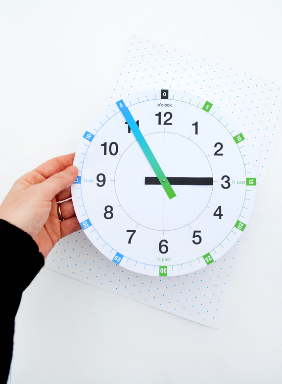 Printable learning clock | MINI ECO
