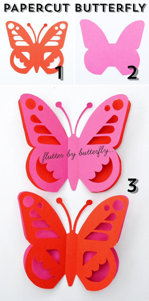 Papercut butterfly mini eco for Butterfly paper cut out template
