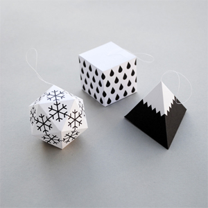 Paper decorations - Winter edition
