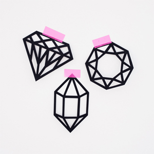 Paper-cut gem decorations