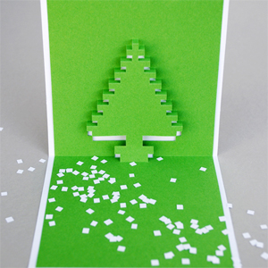 Christmas tree popup cards