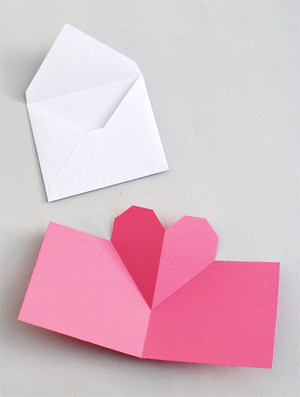 Easy pop-up heart card