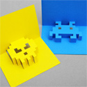 8-bit popup cards