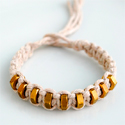 Macrame & hexnut bracelet