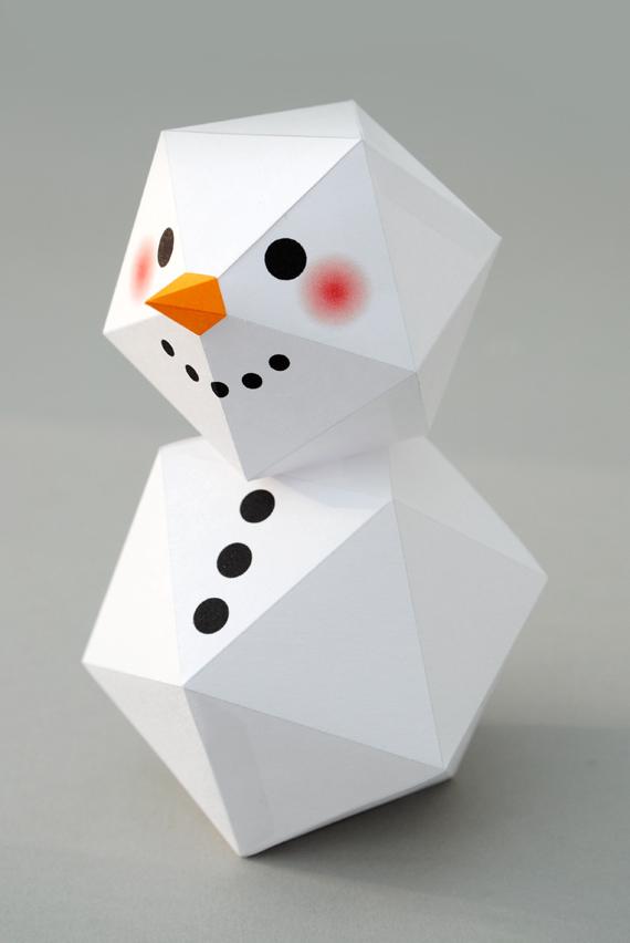 Geometric Snowman Mini Eco