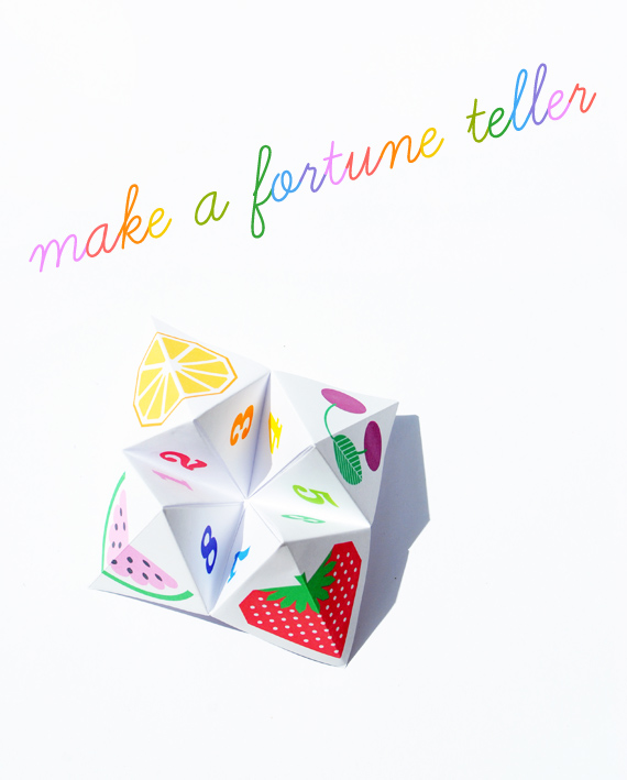 17 Paper Fortune Tellers to Amuse your Kids (with printable ... | 709x570
